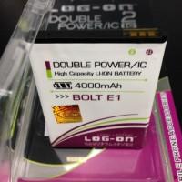 Baterai Log on Double Power Zte HP Bolt E1 4000Mah