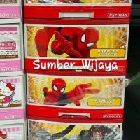 Berkualitas Lemari Laci Plastik Napolly Susun 5 Spiderman SFC2 5000 S