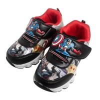 Sepatu LED Avenger Sepatu Anak Warna Hitam Karakter Superhero Impor