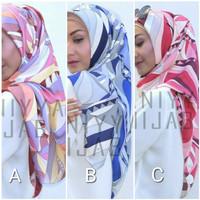 Hijab jilbab kerudung segi empat Maxmara murah motif cantik keren MX16