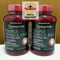 Puritan Triple Max Omega 3 6 9 Strength 120 Softgel Puritans Pride