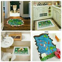 Wallpaper Stiker Lantai 3D Kolam Ikan Koi Best Seller