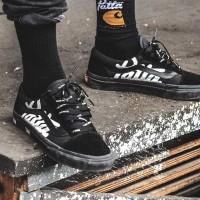 Sepatu Vans Old Skool 'Edition Patta' All Black Premium Original
