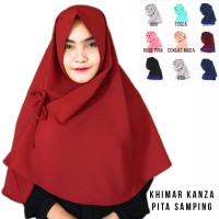 Khimar Kanza Hijab instan Jilbab Instan Kerudung Khimar Pita Hijab