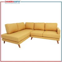 Sofa L Minimalis Quality Carl - Kuning - Sofa Ruang Tamu Modern
