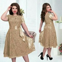 promo Baju Pakaian Setelan Dress Remaja Anggun CS Melly Jumbo Mocca p