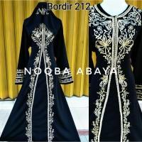 Exclusive Abaya Gamis Dress Jubah Arab Turkey Wanita Bordir 212 Gold