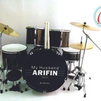 Miniatur Drum Custom Bisa Pesen Gambar Atau Nama