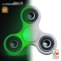 Fidget Spinner Premium Glow in the Dark - White Matte