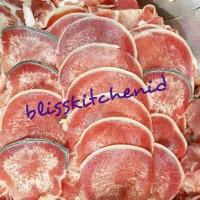 Daging Lidah Sapi Slice Aus Impor / Ox Tongue Sliced / Gyutan 250Gr