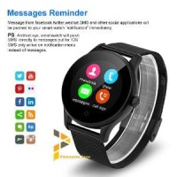Smart Watch K88H - Smartwatch K88H BESI HITAM HEART RATE ANDROID IOS