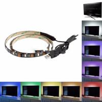 RGB Lampu Hias Ruangan Meja PC Tv Lampu Led Strip Mood 5050 2M murah