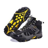 Sepatu Gunung SNTA 481 Black Grey Boot /Hiking /Trekking/Outdoor