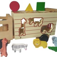Truk Animal Car ~ Mainan Kayu ~ Edukasi