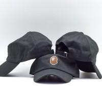 TOPI BASEBALL CAP BAPE BLACK IMPORT LIMITED EDITION