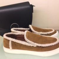 Sepatu Wanita Charles and Keith CK Original Suede Brown