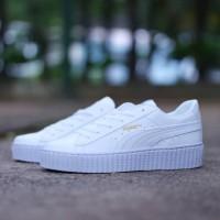 Sepatu Puma Fenty Rihanna All White / Putih Cewek Wanita Casual