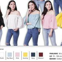 39f3e12b0 Atasan Wanita Dress Blouse Mini Maxi Blus Korea Sabrina Scuba Variasi