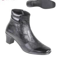 Sepatu Wanita Bahan Kulit Boots tkk 4868 Zeintin