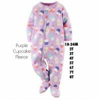 Sleepsuit baju tidur anak Carter's & Place usia 6 & 7 tahun - Fleece