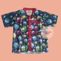 Baju Koko Anak / Baju Atasan Tayo Blue Size XL (+/-5th) Terlaris