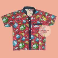 Baju Atasan Tayo Red Size L (+/-3th)  / Baju Koko Anak Katun Catra