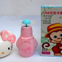TERLARIS Kipas Angin USB Mini Fan USB Hello Kitty Kipas Angin Mini