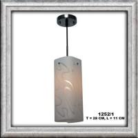 lampu hias dekorasi minimalis mini bar cabang 1 matrial kaca Garansi