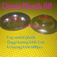 isi600pc wadah CUP tempat tray mika SAMBAL sambel saus plastik BENING