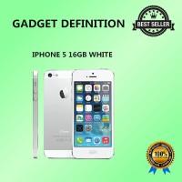 APPLE IPHONE 5 - 16GB - WHITE GARANSI PLATINUM 1THN