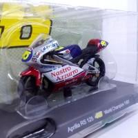 Diecast Miniatur Motogp Aprillia RS 125 Valentino Rossi Champion 1997