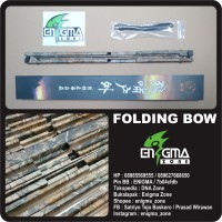 Folding Bow, Survival Bow, Compact Bow, Recurve Bow, Folded Bow Black