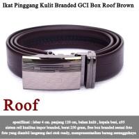 Ikat Pinggang Kulit Branded GCI Box roff brown