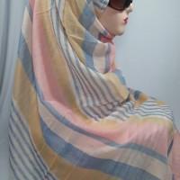 Pashmina Viscose Motif Salur Warna Pastel (Tiore dari Adabia Brand)