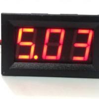 Digital Voltmeter Dengan Frame 4.8-30V DC Merah Volt Meter