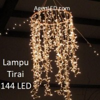 Lampu natal tumblr tirai / curtain lamp / twinkle LED Warm white