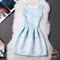 Cocktail Party Dress Silver Blue/ Dress Pesta / Dress Mini