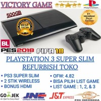 TOP PS3 PS 3 SONY PLAYSTATION 3 SUPER SLIM 500GB OFW FULL GAME