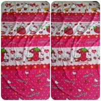 Bahan Kain Sprei Meteran - Hello Kitty Straberry