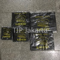 Kantong Plastik Kresek Loco Tebal Hitam 500 gram ukuran 17 - 40
