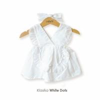 Klasika White Dots Mosfit Dress Anak Perempuan (Dress Baby)
