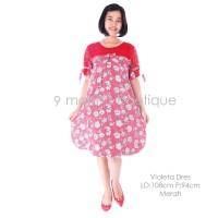 Baju Hamil Menyusui VIOLETA DRESS RED - Baju Wanita Murah Bagus Modis