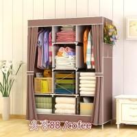 jual lemari pakaian, baju anak model foto karakter seperti frozen kain