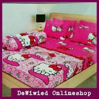 Sprei Hello Kitty Pink ukuran 180x200 Diskon