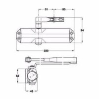 Hidrolik Door Closer Dorma TS68 ts 68 Asli Original Lengkap Hy Limited