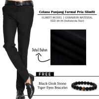 Celana Kerja Pria /Celana Panjang Pria Formal Gabriel Hitam