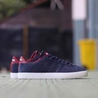 Limited! Sepatu Adidas Pria Neo VL Court Suede Original Navy Maroon Wh