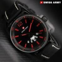 Jam tangan pria Genuine leather Swiss Army Diskon