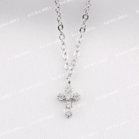 Bauble Bible Cross Necklace Perhiasan Kalung Salib Lapis Emas Silver