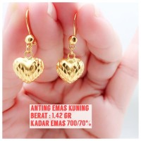 anting emas kuning 1.42 gram
